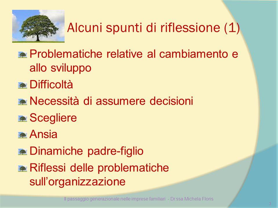 Alcuni spunti di riflessione (1) Problematiche relative al cambiamento e allo sviluppo Difficoltà Necessità di assumere decisioni Scegliere Ansia Dina