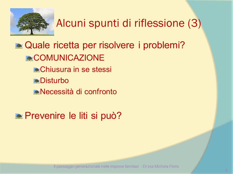Alcuni spunti di riflessione (3) Quale ricetta per risolvere i problemi.