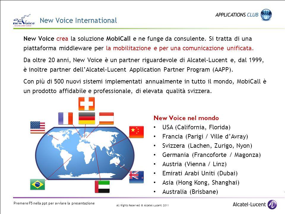 All Rights Reserved © Alcatel-Lucent 2011 MobiCall – OXE Localizzazione via antenna Localizzazione basata su unantenna DECT La localizzazione si basa sullantenna alla quale è connesso il DECT.