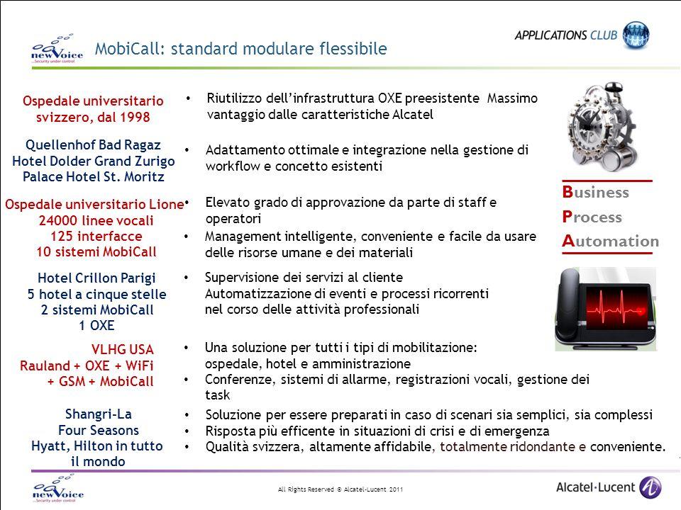All Rights Reserved © Alcatel-Lucent 2011 Generatore di applicazione XML di MobiCall per IP-touch