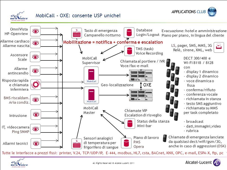 All Rights Reserved © Alcatel-Lucent 2011 Integrazione di MobiCall XML con flussi configurabili liberamente