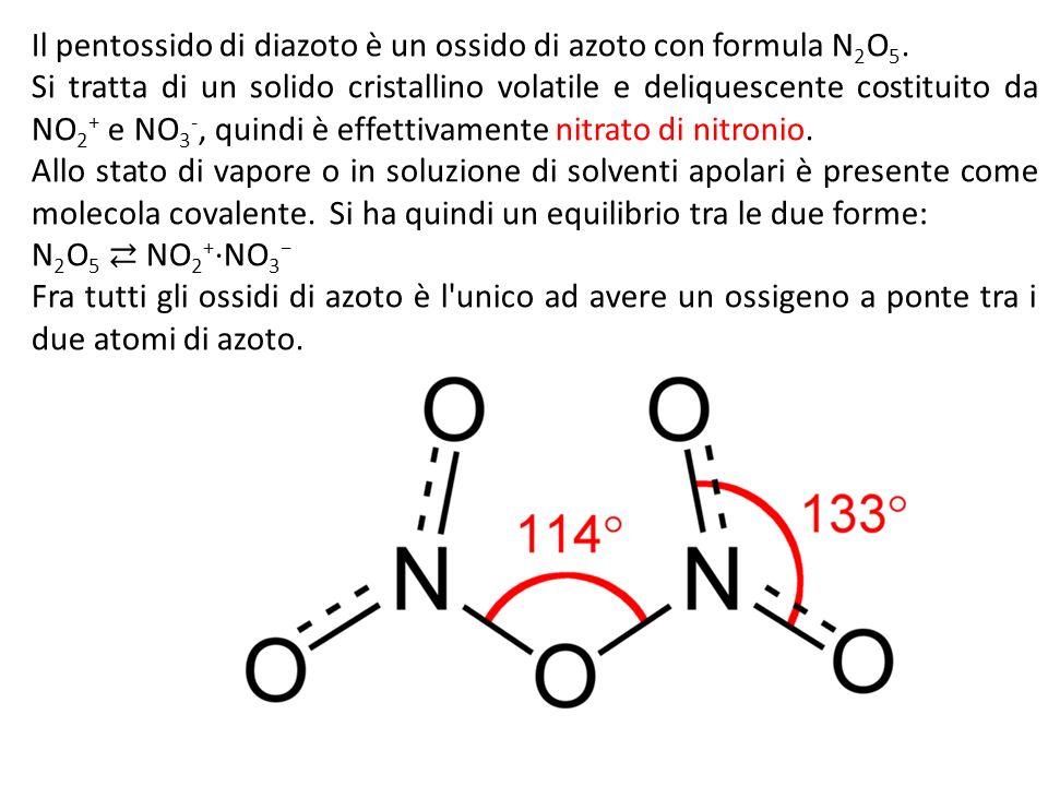 Il pentossido di diazoto è un ossido di azoto con formula N 2 O 5.