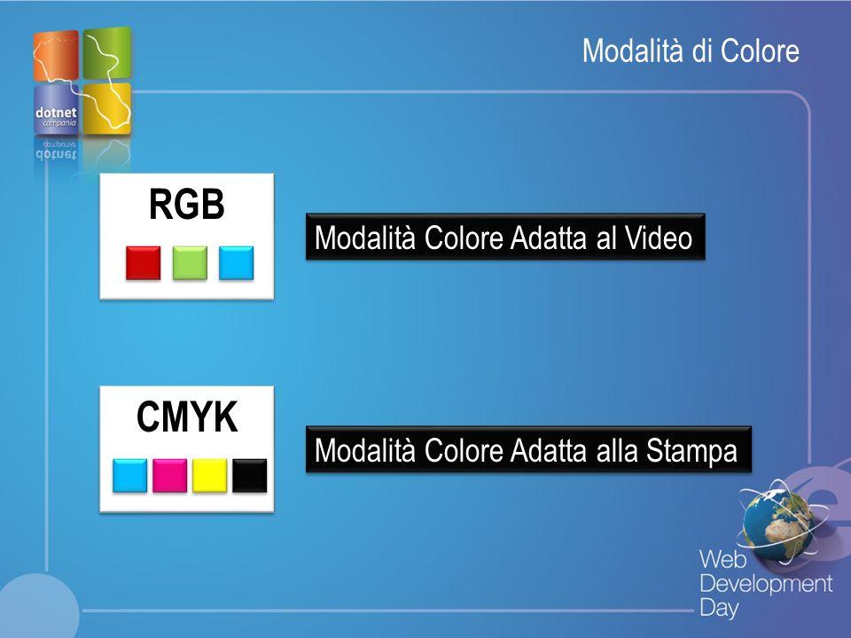 Fare clic per modificare lo stile del titolo Fare clic per modificare stili del testo dello schema – Secondo livello Terzo livello – Quarto livello » Quinto livello Modalità di Colore RGB Modalità Colore Adatta al Video Modalità Colore Adatta alla Stampa CMYK