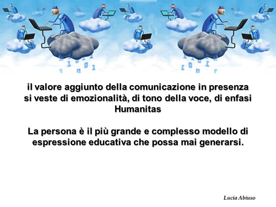 il valore aggiunto della comunicazione in presenza si veste di emozionalità, di tono della voce, di enfasi Humanitas La persona è il più grande e comp