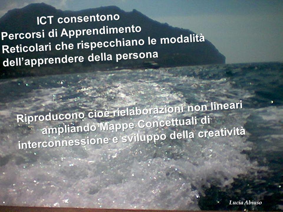 ICT consentono ICT consentono Percorsi di Apprendimento Reticolari che rispecchiano le modalità dellapprendere della persona Riproducono cioè rielabor