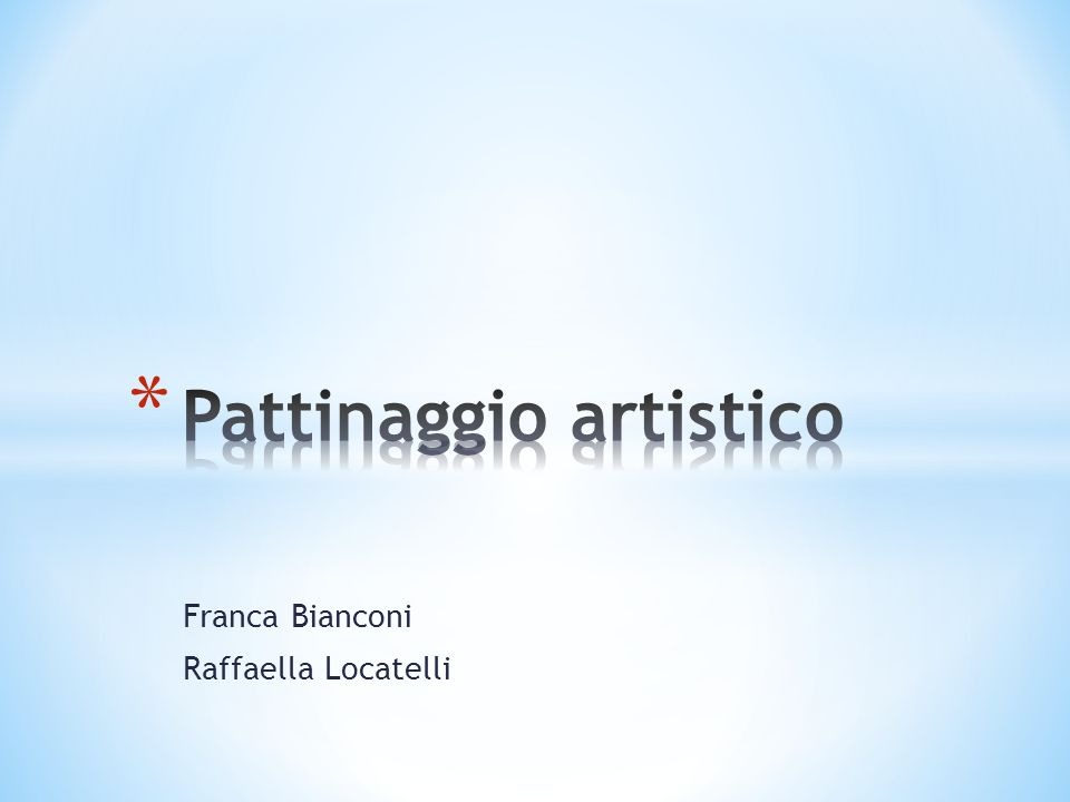 Franca Bianconi Raffaella Locatelli