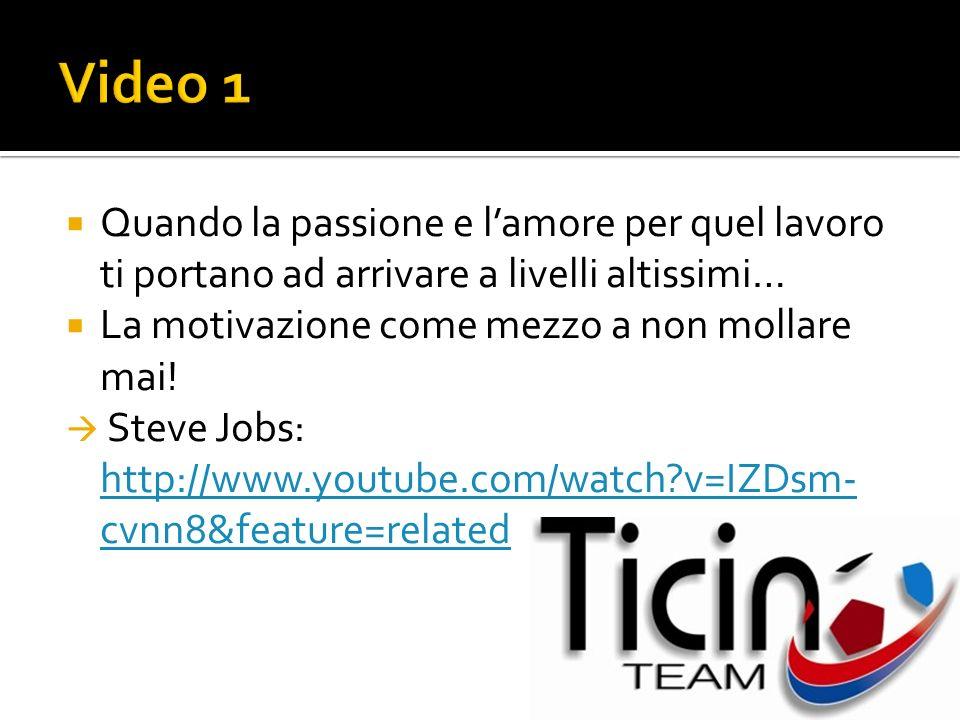Quando la passione e lamore per quel lavoro ti portano ad arrivare a livelli altissimi… La motivazione come mezzo a non mollare mai! Steve Jobs: http: