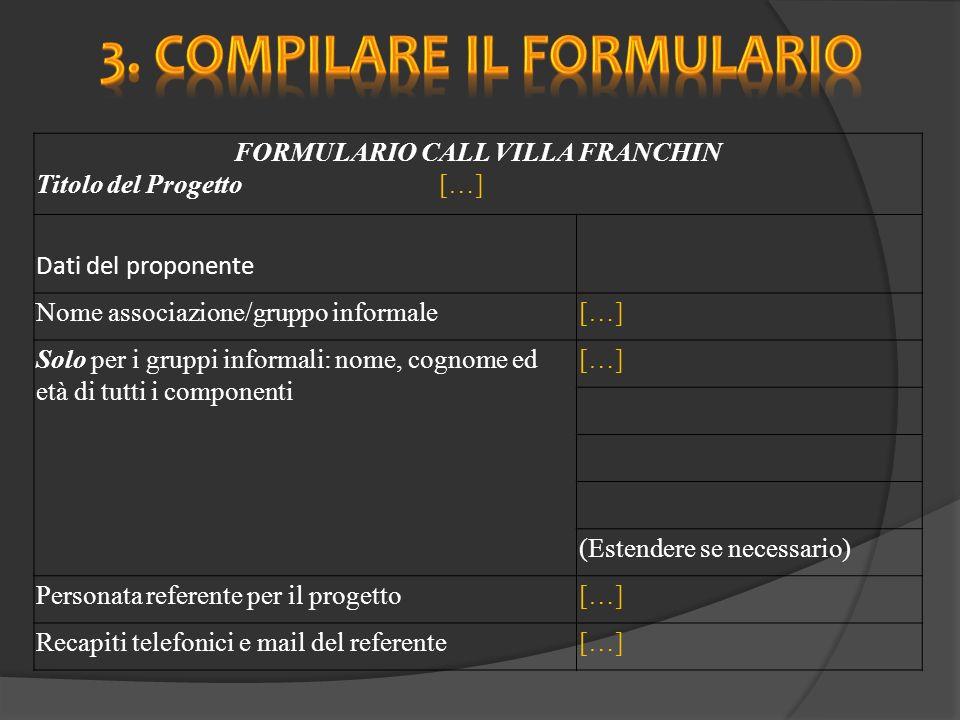 Breve descrizione del progetto (massimo 20 righe) […] Da cosa nasce l idea di questo progetto e quali obiettivi vuole raggiungere.