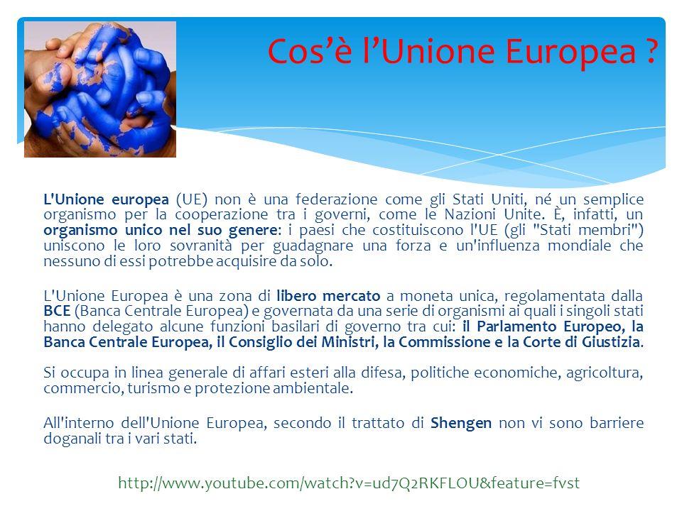 L Unione europea (UE) non è una federazione come gli Stati Uniti, né un semplice organismo per la cooperazione tra i governi, come le Nazioni Unite.