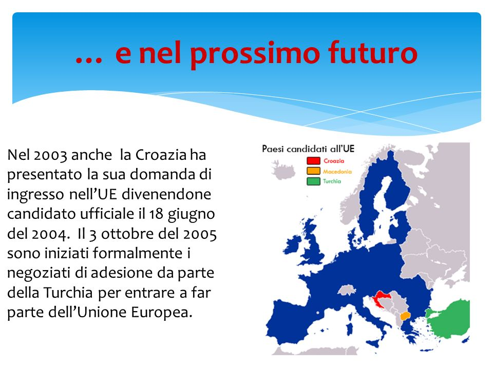 … e nel prossimo futuro Paesi Candidati ad entrare nellU.E.