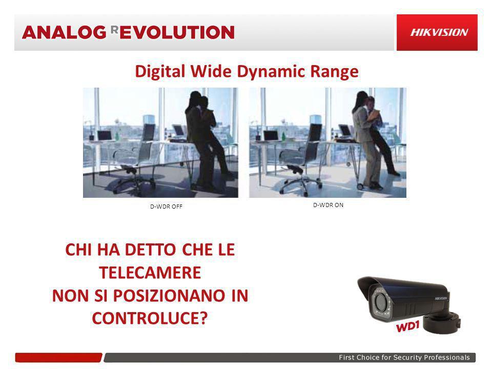 Digital Wide Dynamic Range D-WDR OFF D-WDR ON CHI HA DETTO CHE LE TELECAMERE NON SI POSIZIONANO IN CONTROLUCE?
