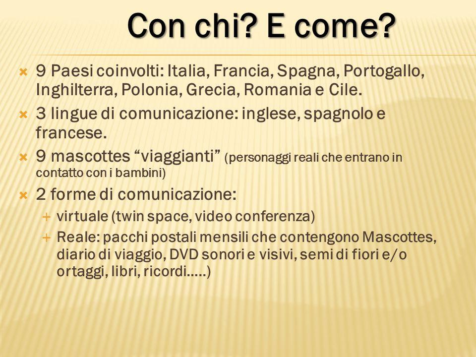 9 Paesi coinvolti: Italia, Francia, Spagna, Portogallo, Inghilterra, Polonia, Grecia, Romania e Cile.