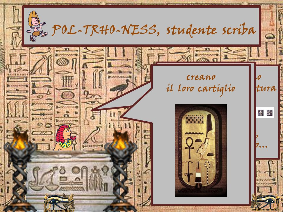 13 Gioco interattivo su pc, proiettato a dimensione umana. I bambini risolvono un mistero cercando indizi in tombe, templi, città, palazzi, riprodotti