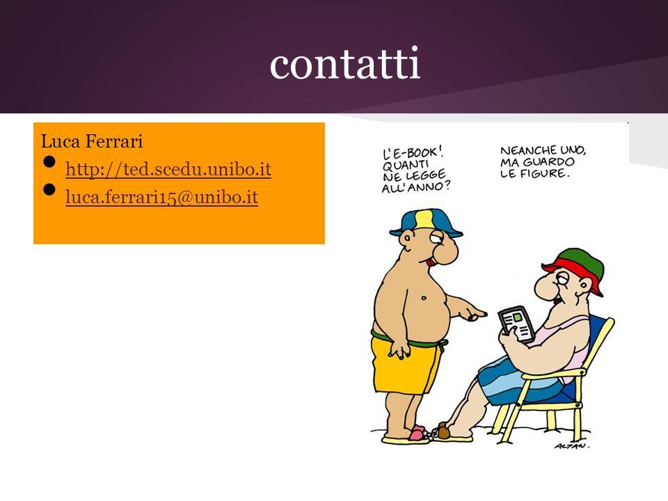contatti Luca Ferrari http://ted.scedu.unibo.it luca.ferrari15@unibo.it