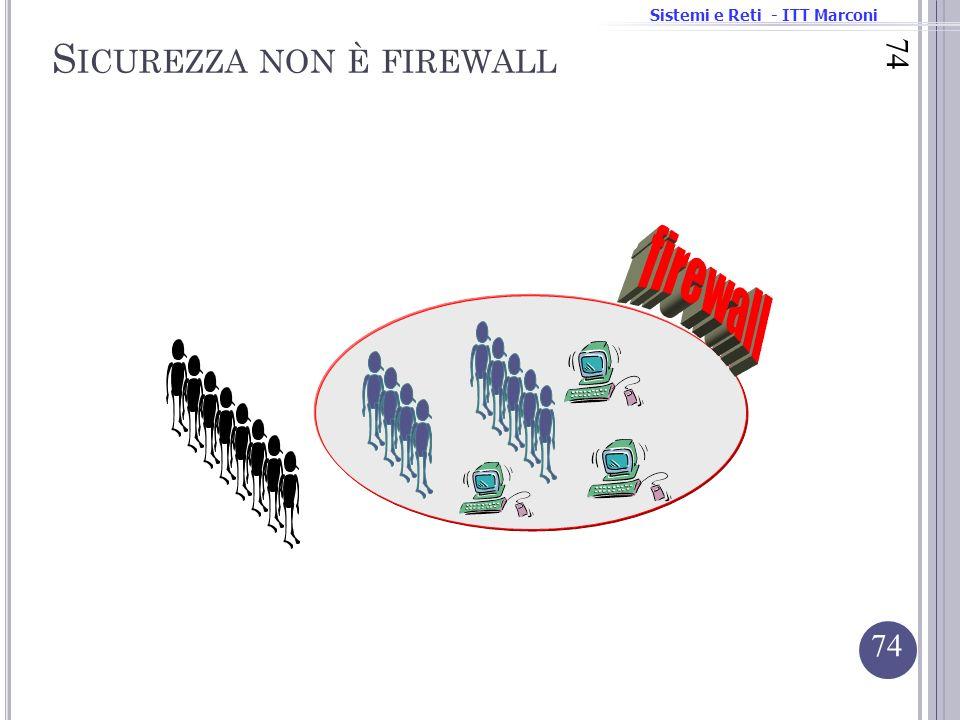 Sistemi e Reti - ITT Marconi 74 S ICUREZZA NON È FIREWALL 74