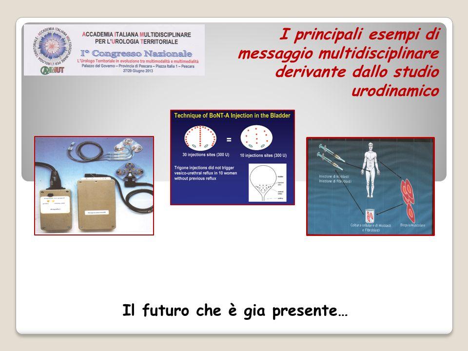 I principali esempi di messaggio multidisciplinare derivante dallo studio urodinamico Il futuro che è gia presente…
