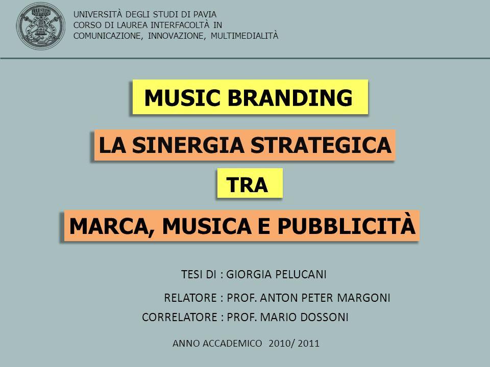 IL POTERE STRATEGICO DELLA MUSICA Tutti amano la musica, ma non tutti amano la pubblicità Ladozione di una strategia musicale ben definita comporta numerosi benefici, al punto che la musica può essere considerata il più pervasivo strumento di marketing a disposizione delle aziende.