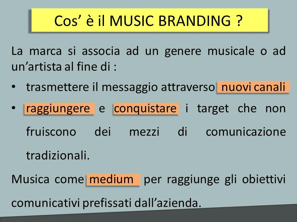 MUSICA allinterno del MARKETING MIX Lazienda rende la musica una componente stabile del marketing mix.