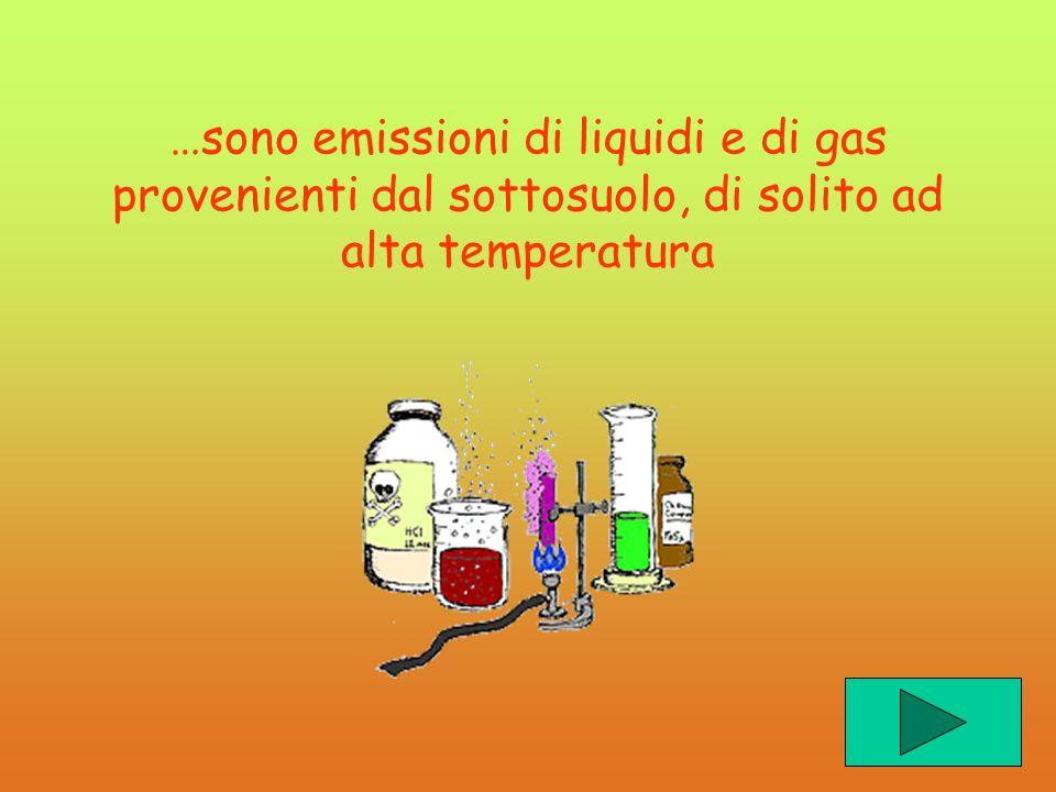 …sono emissioni di liquidi e di gas provenienti dal sottosuolo, di solito ad alta temperatura