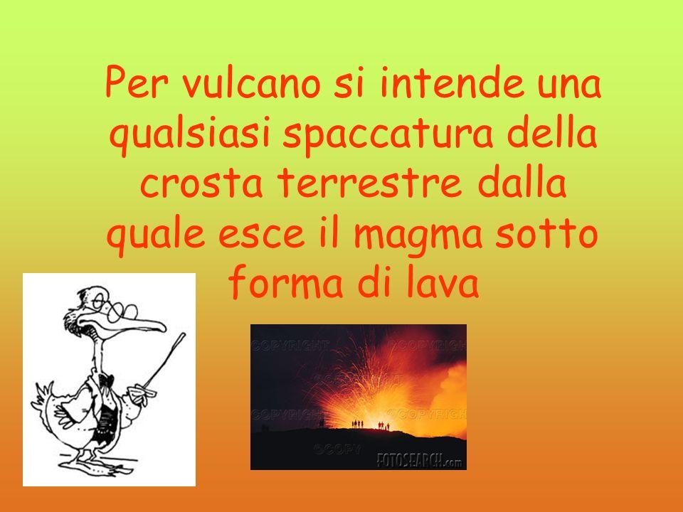 Per vulcano si intende una qualsiasi spaccatura della crosta terrestre dalla quale esce il magma sotto forma di lava