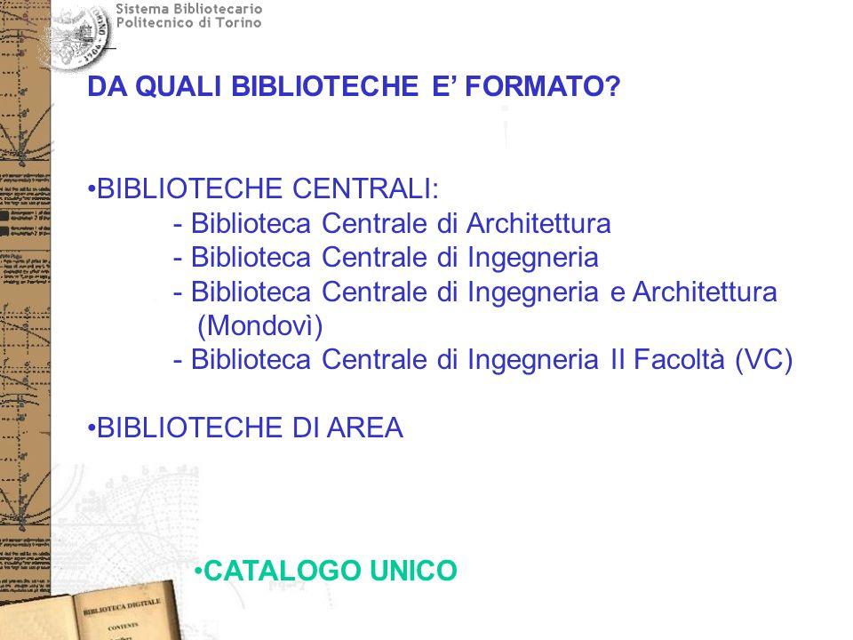 DA QUALI BIBLIOTECHE E FORMATO.