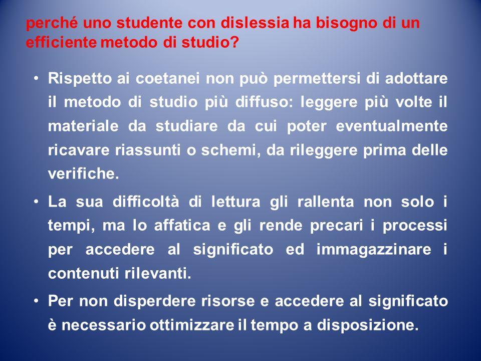perché uno studente con dislessia ha bisogno di un efficiente metodo di studio.