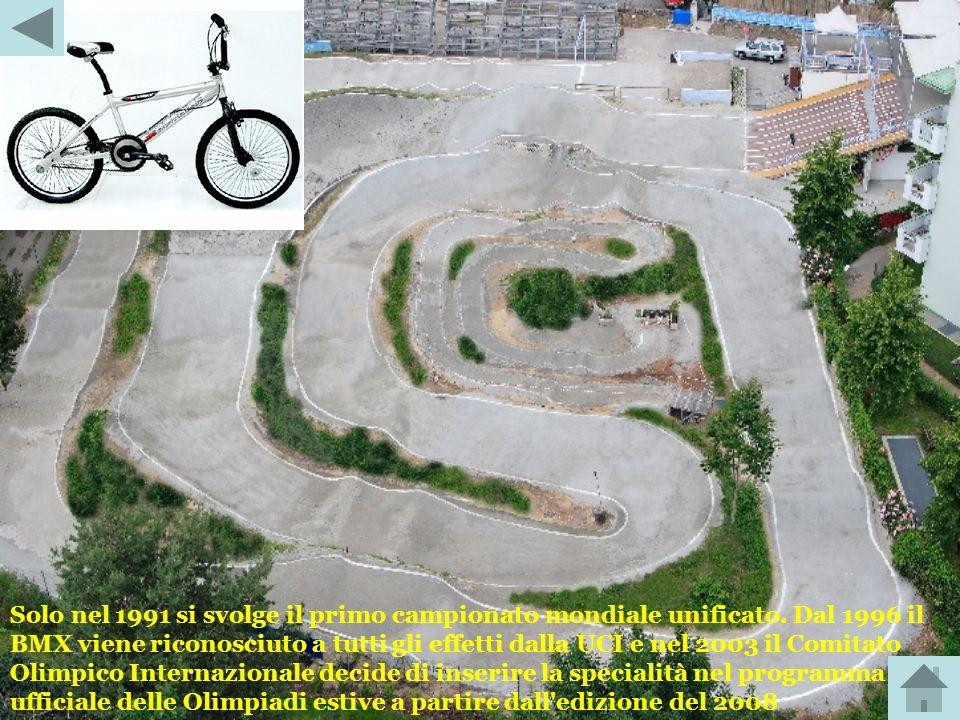 Il BMX è una disciplina ciclistica nata negli Stati Uniti nel 1968 e rapidamente diffusa nel resto del mondo nel corso del decennio successivo. Nel 19