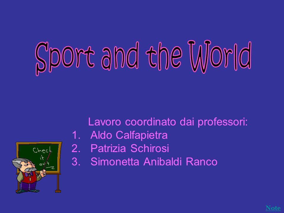 Lavoro coordinato dai professori: 1.Aldo Calfapietra 2.Patrizia Schirosi 3.Simonetta Anibaldi Ranco Note