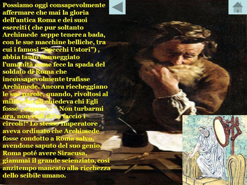 Archimede, col suo ingegno, applicò la matematica, costruendo anche le stesse basi teoriche di calcolo. E considerato il più grande genio matematico d