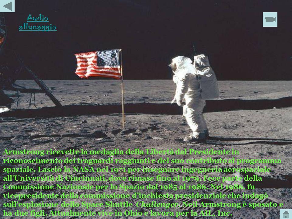 Neil Armstrong fu il comandante dell' Apollo 11, la prima navicella con equipaggio a posarsi sulla Luna. Il 20 luglio 1969 il comandante Armstrong e i