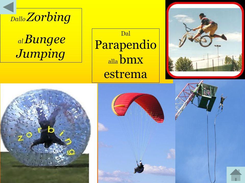 Dallo Zorbing al Bungee Jumping Dal Parapendio alla bmx estrema