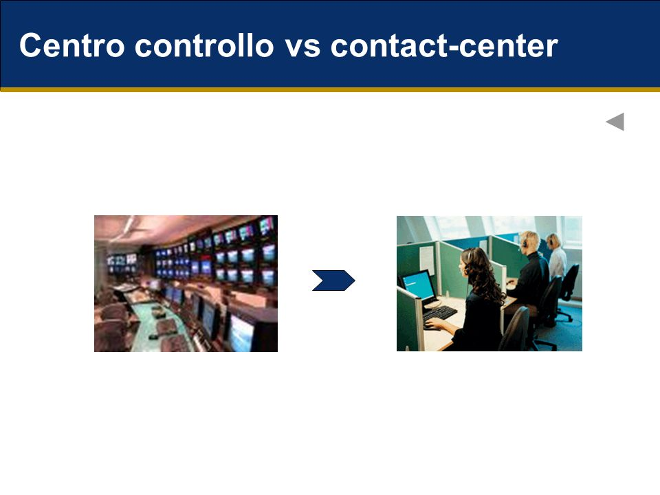 Centro controllo vs contact-center