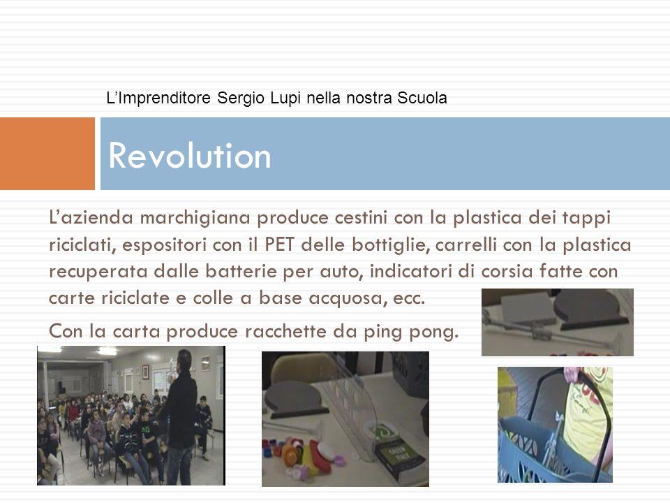 Lazienda marchigiana produce cestini con la plastica dei tappi riciclati, espositori con il PET delle bottiglie, carrelli con la plastica recuperata d