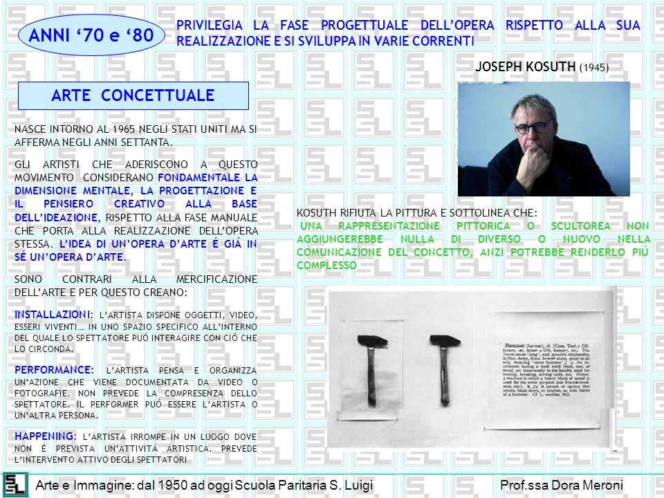 Arte e Immagine: dal 1950 ad oggiScuola Paritaria S.