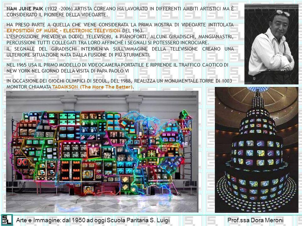 Arte e Immagine: dal 1950 ad oggiScuola Paritaria S. LuigiProf.ssa Dora Meroni NAM JUNE PAIK (1932 –2006) ARTISTA COREANO HA LAVORATO IN DIFFERENTI AM