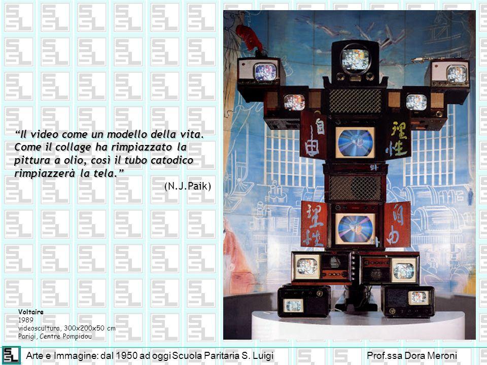 Arte e Immagine: dal 1950 ad oggiScuola Paritaria S. LuigiProf.ssa Dora Meroni Voltaire 1989 videoscultura, 300x200x50 cm Parigi, Centre Pompidou Il v