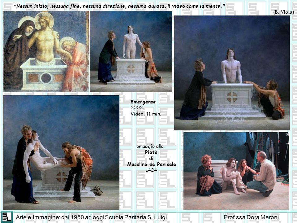 Arte e Immagine: dal 1950 ad oggiScuola Paritaria S. LuigiProf.ssa Dora Meroni Nessun inizio, nessuna fine, nessuna direzione, nessuna durata. Il vide