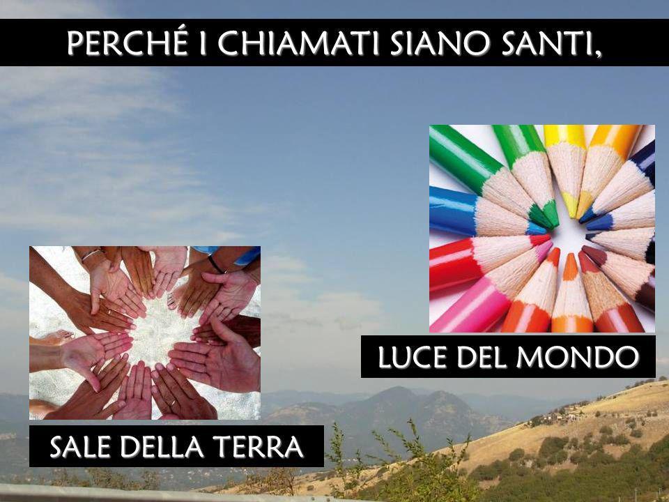 PERCHÉ I CHIAMATI SIANO SANTI, LUCE DEL MONDO SALE DELLA TERRA