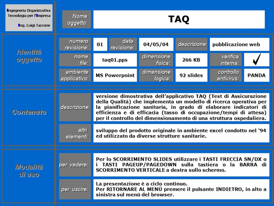 La metodologia T.A.Q.
