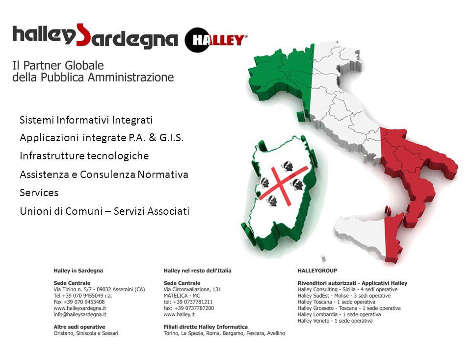 Applicazioni integrate P.A. & G.I.S. Infrastrutture tecnologiche Assistenza e Consulenza Normativa Services Sistemi Informativi Integrati Unioni di Co