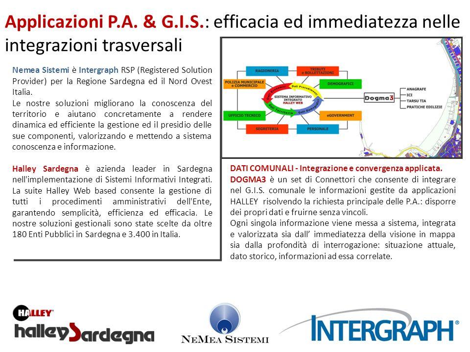 Nemea Sistemi è Intergraph RSP (Registered Solution Provider) per la Regione Sardegna ed il Nord Ovest Italia. Le nostre soluzioni migliorano la conos
