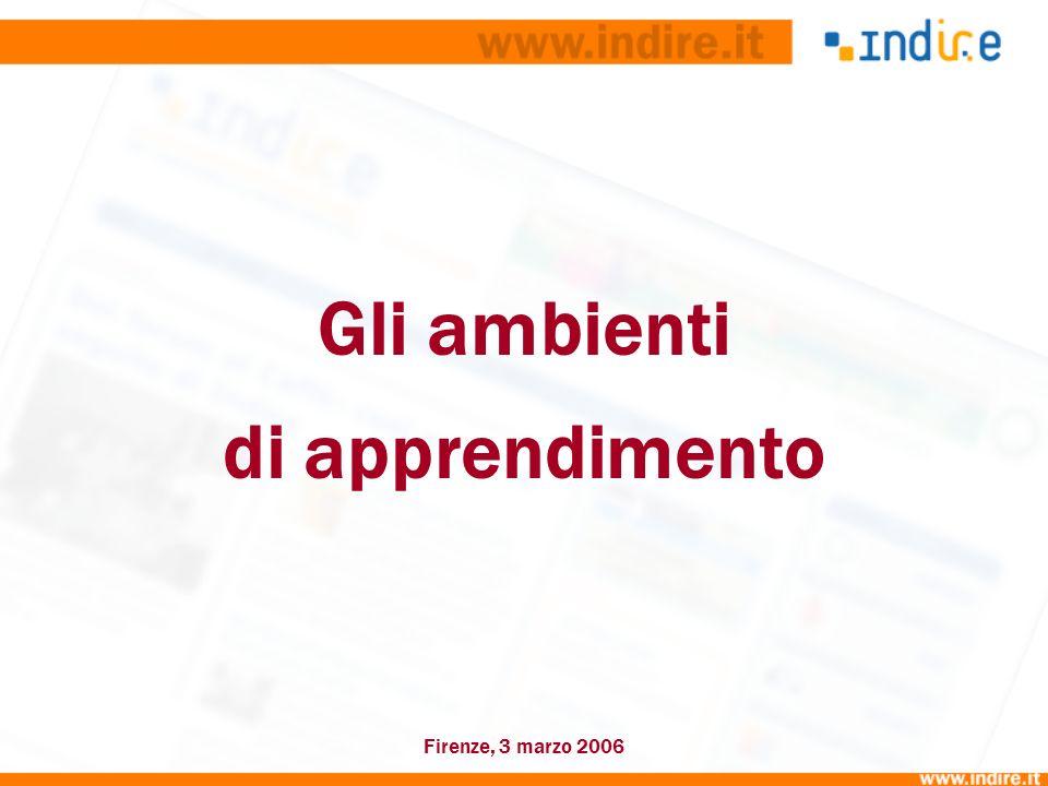 Gli ambienti di apprendimento Firenze, 3 marzo 2006