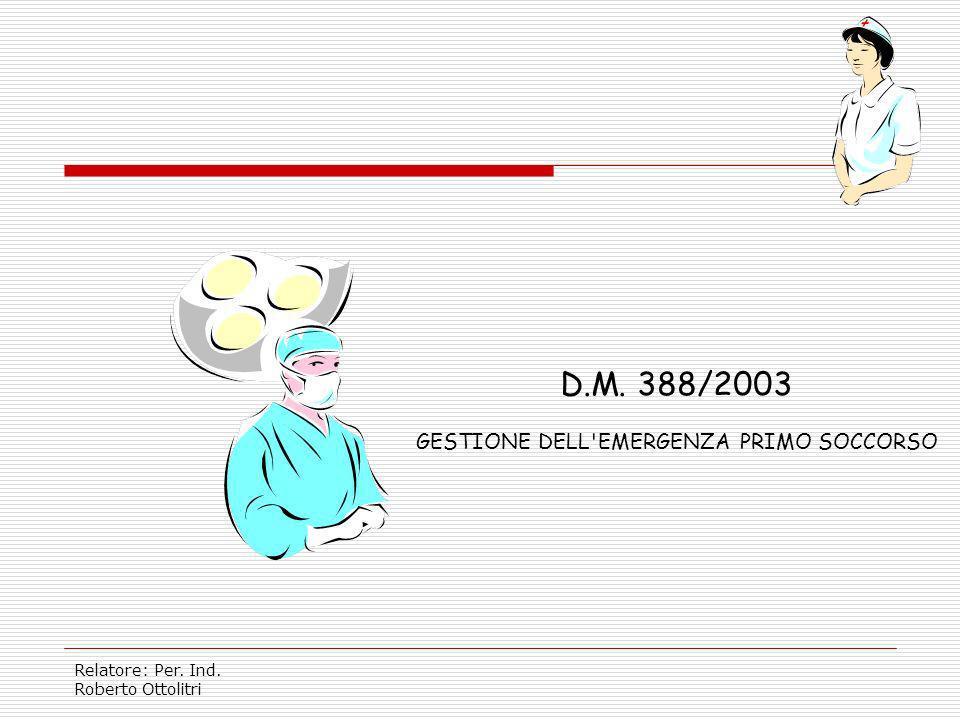 Relatore: Per. Ind. Roberto Ottolitri D.M. 10 MARZO 1998 GESTIONE DELL'EMERGENZA ANTINCENDIO
