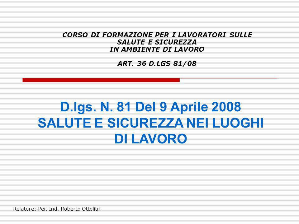 Relatore: Per. Ind. Roberto Ottolitri D.M. 388/2003 GESTIONE DELL'EMERGENZA PRIMO SOCCORSO