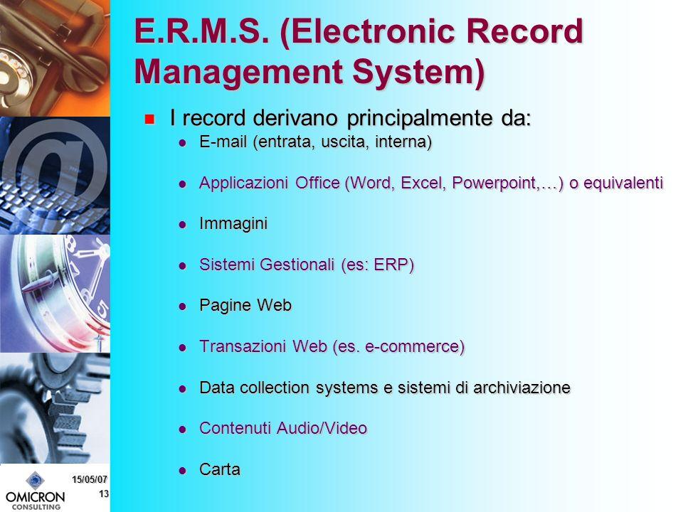13 15/05/07 E.R.M.S.