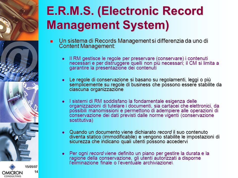 14 15/05/07 E.R.M.S.