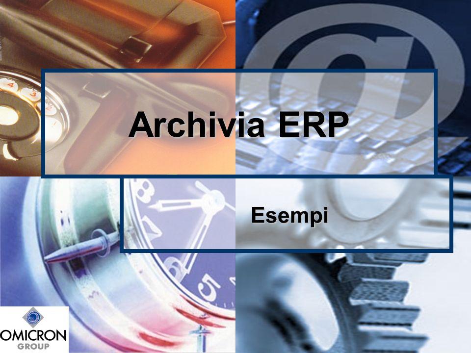 Archivia ERP Esempi Esempi