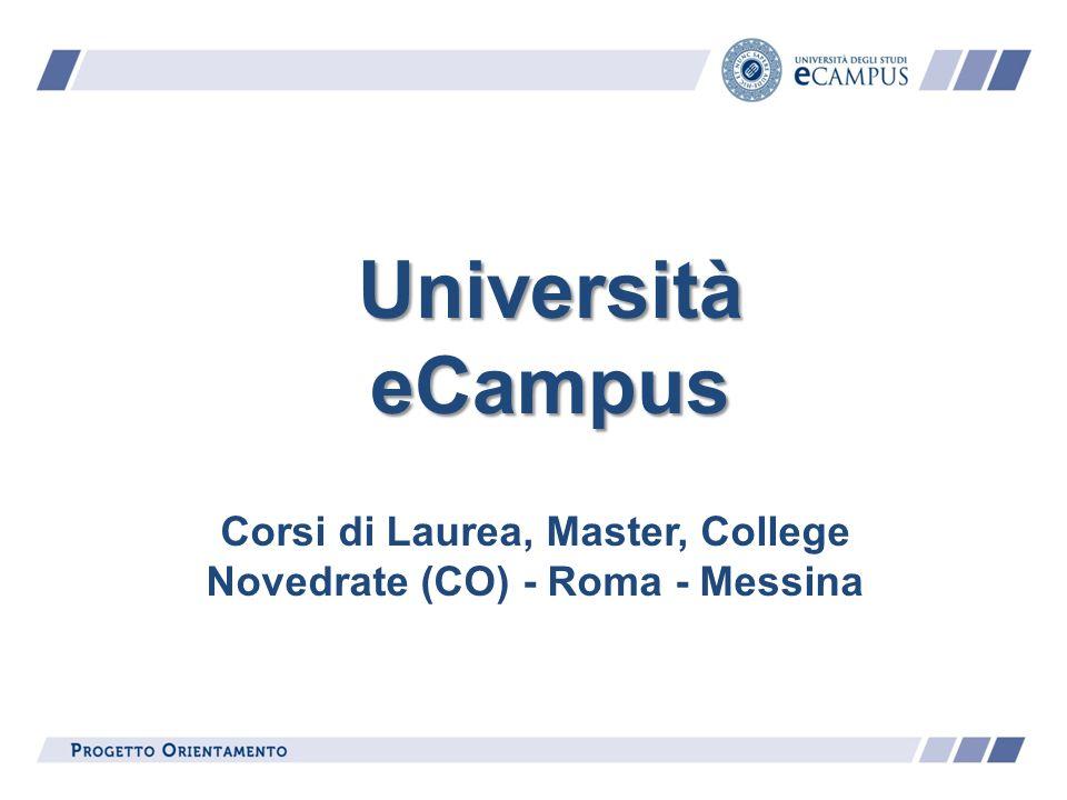 Università eCampus Corsi di Laurea, Master, College Novedrate (CO) - Roma - Messina