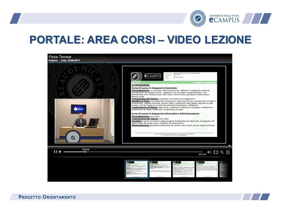 PORTALE: AREA CORSI – VIDEO LEZIONE