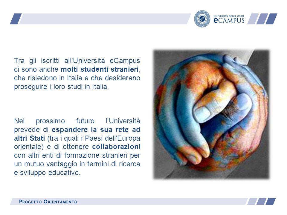 Tra gli iscritti allUniversità eCampus ci sono anche molti studenti stranieri, che risiedono in Italia e che desiderano proseguire i loro studi in Ita